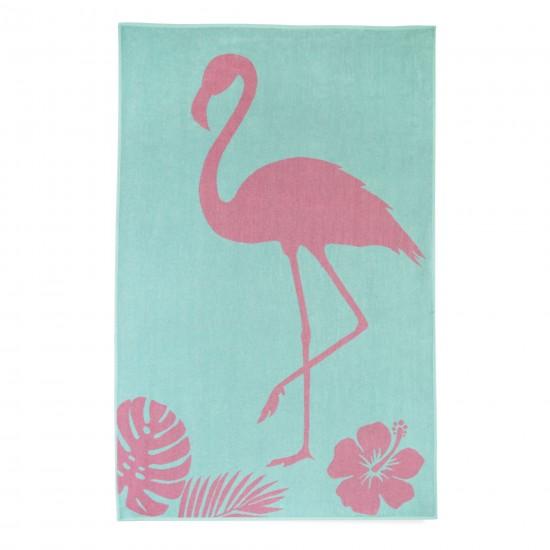 Ręcznik plażowy Flaming Zielony