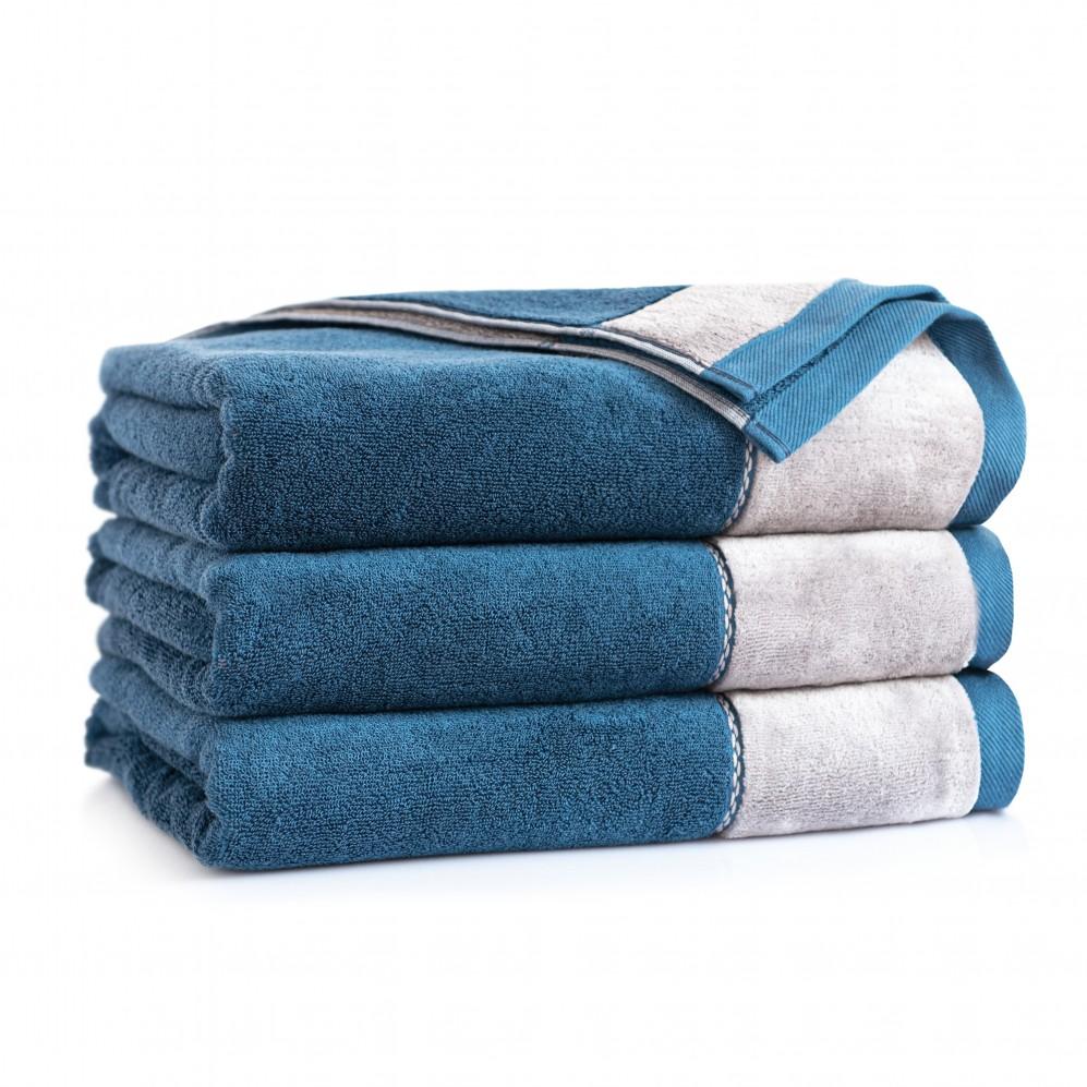 Ręcznik z bawełny egipskiej szary Megan Tanzanit