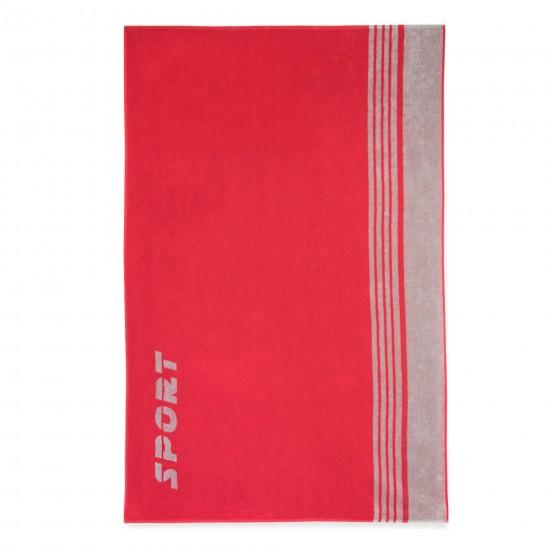 Ręcznik plażowy Sport Cynober-Szary