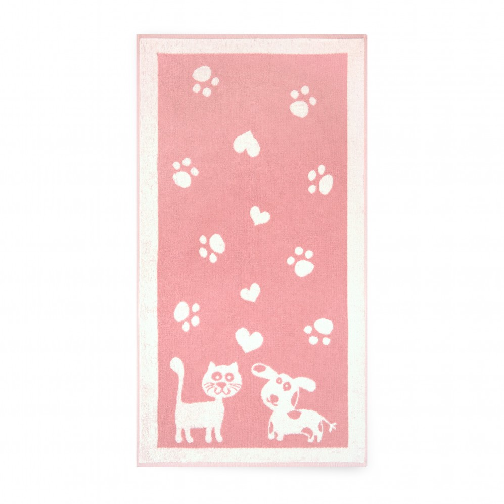 Ręcznik dla dzieci Pupile Różowy
