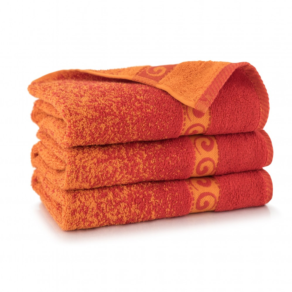 Ręcznik bawełniany Pianola Oranż