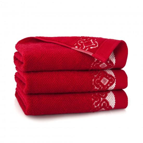 Ręcznik bawełniany Carmen Czerwony