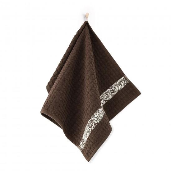 Ręcznik kuchenny Ornament brązowy