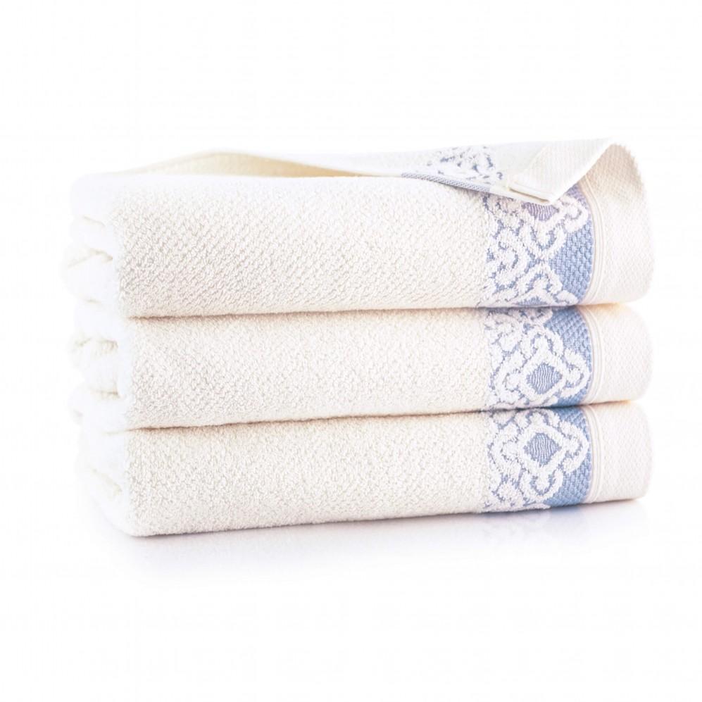Ręcznik bawełniany Carmen kremowy