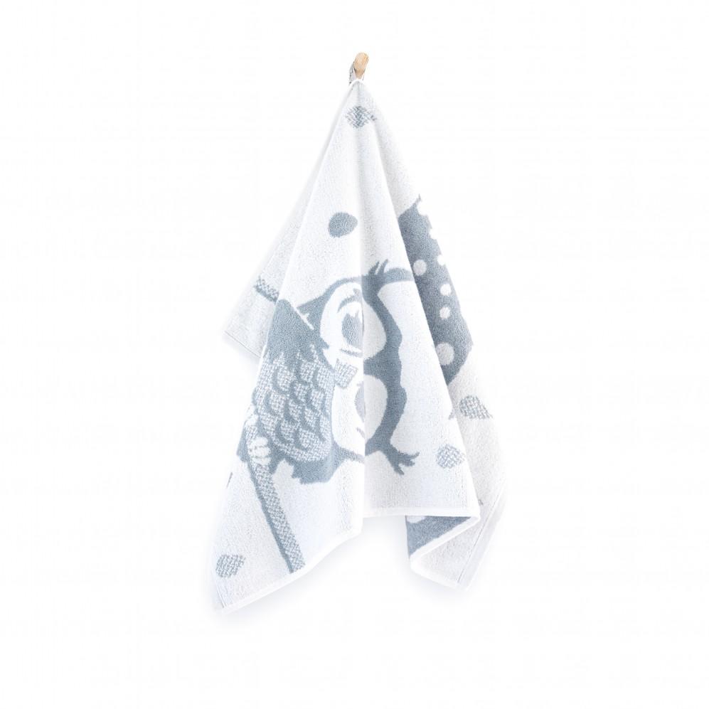 Ręcznik dla dzieci Tola Biało-szary