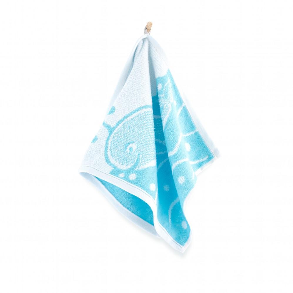 Ręcznik HUGO biało-niebieski