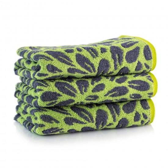 Ręcznik bawełniany Lantana Zielono-Grafitowy