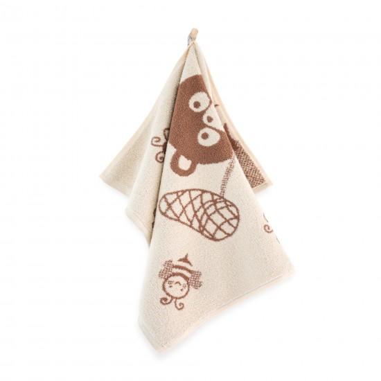 Ręcznik dla dzieci KUBUŚ ecru-beż