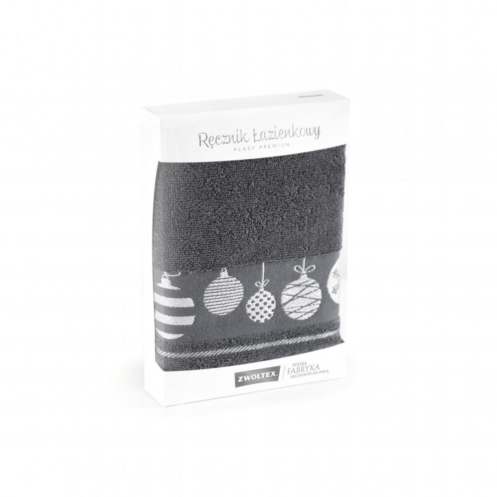 Upominek z ręczników Bombki Grafit