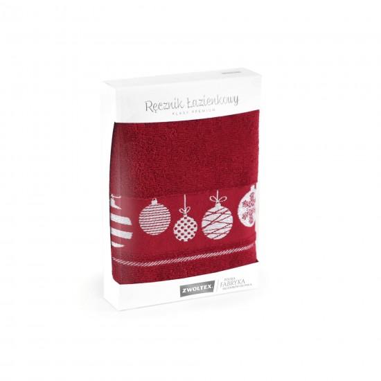 Upominek z ręczników Bombki Burgund