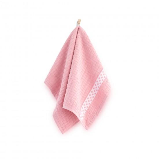Ręcznik kuchenny Kropki różowy
