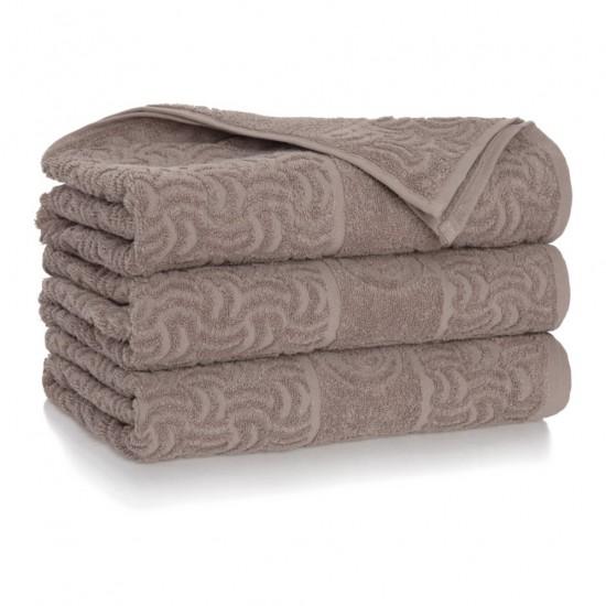 Ręcznik bawełniany brązowy Morwa Cynamonowy