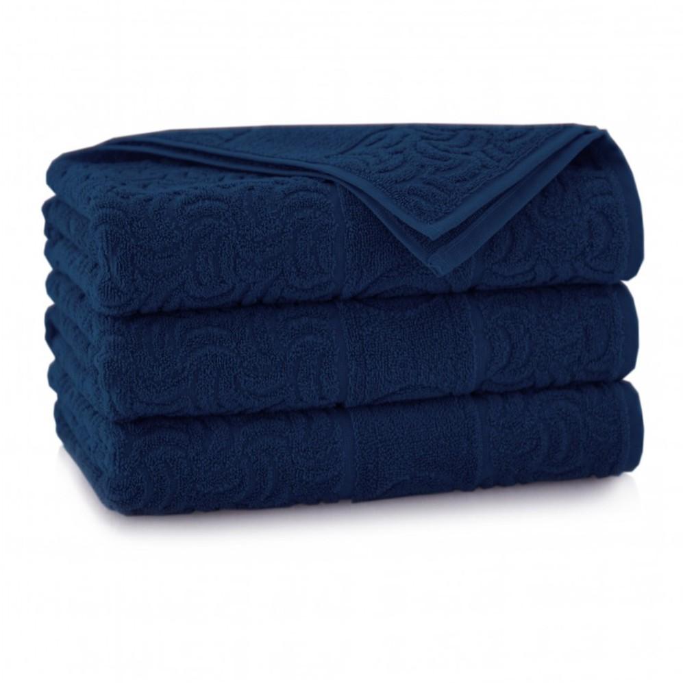 Ręcznik bawełniany niebieski Morwa Atrament