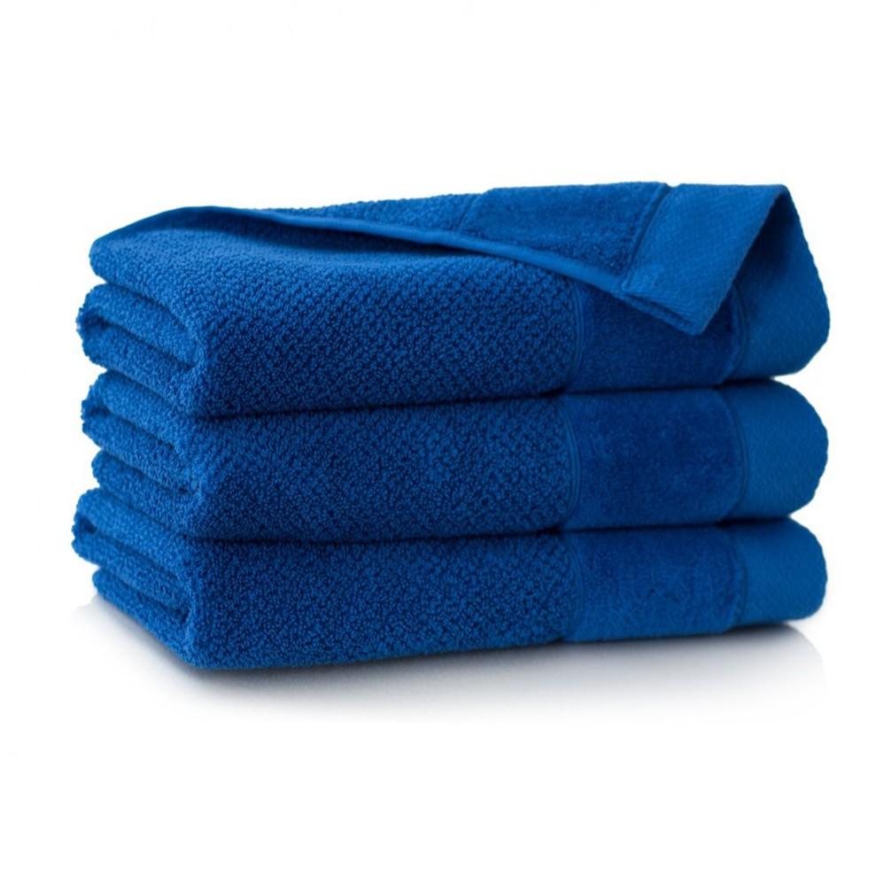Ręcznik bawełniany niebieski Smooth Chaber