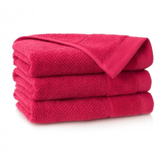 Ręcznik bawełniany czerwony Smooth Malinowy