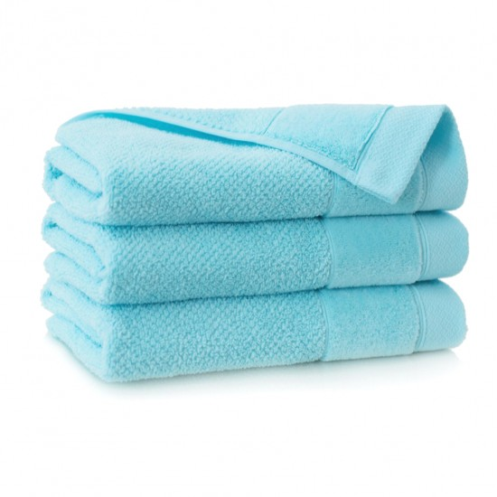 Ręcznik bawełniany niebieski Smooth Turkus jasny