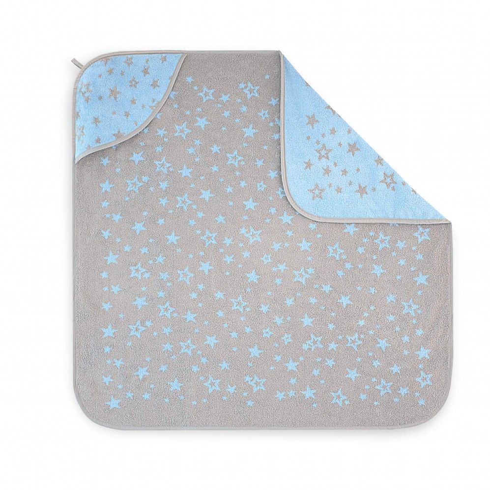 Ręcznik dla dzieci z kapturkiem Mateo Niebieski