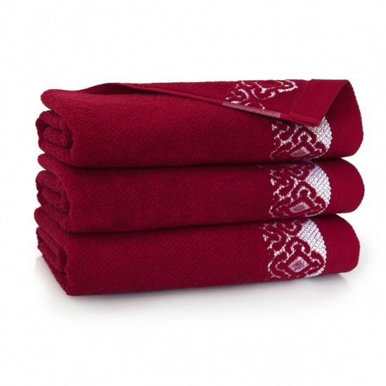 Ręcznik bawełniany Carmen Burgund