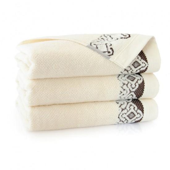 Ręcznik bawełniany Carmen Ecru