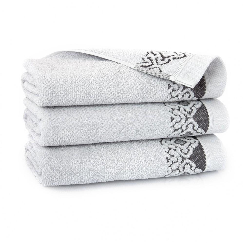 Ręcznik bawełniany Carmen Stalowy