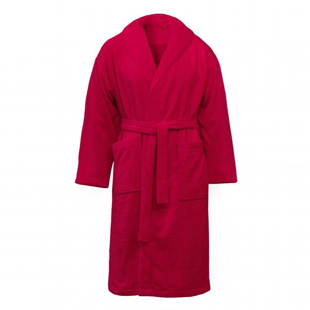 Szlafrok bawełniany czerwony MEDEA