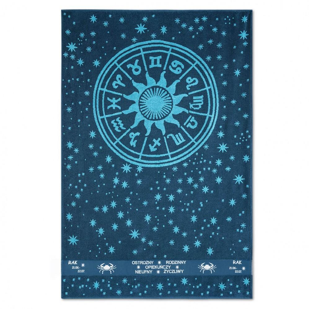 Ręcznik plażowy Zodiak Turkusowy Rak