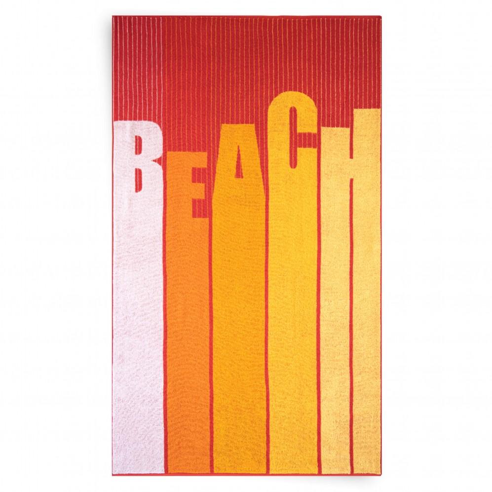 Ręcznik plażowy BEACH czerwony