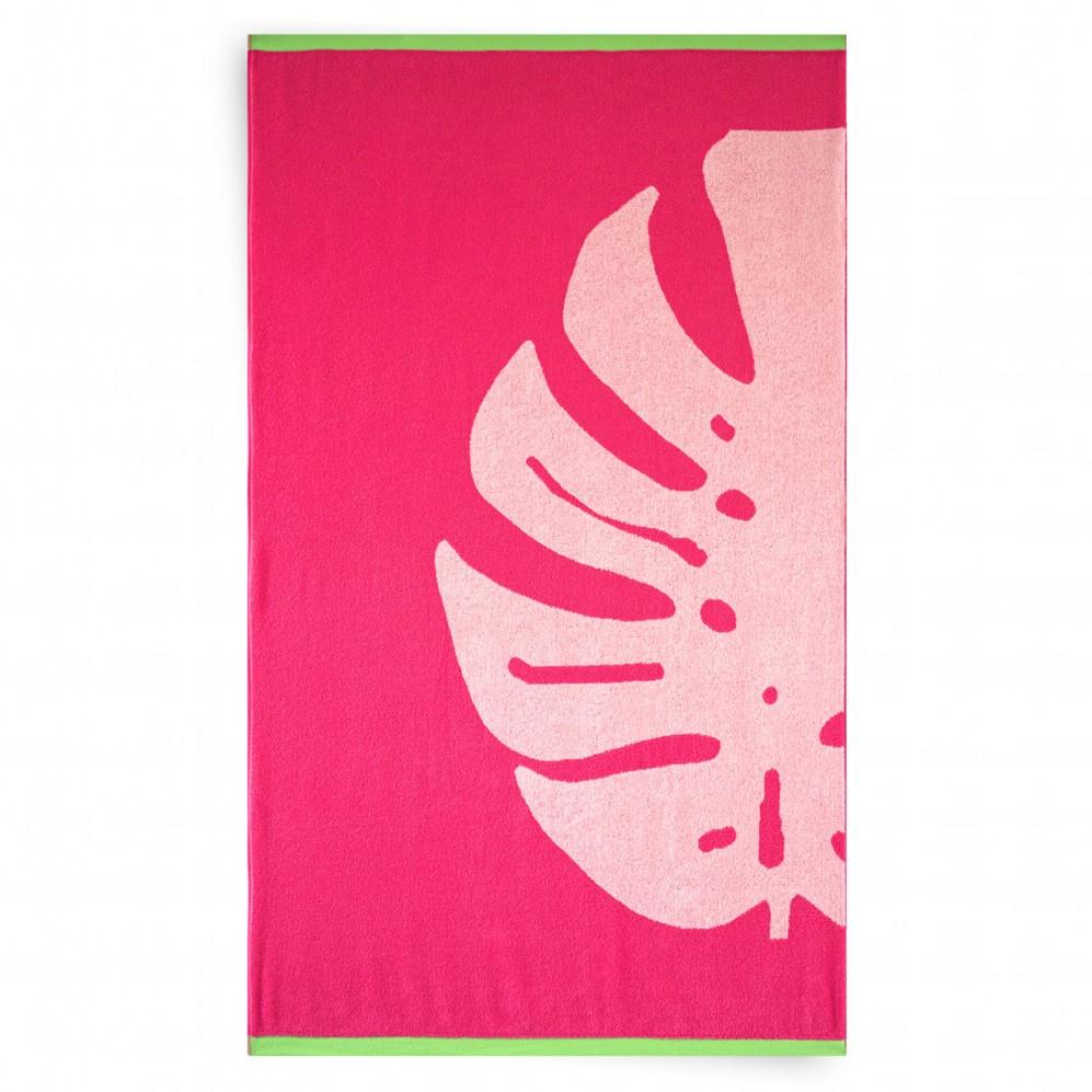 Ręcznik plażowy LEAF różowy