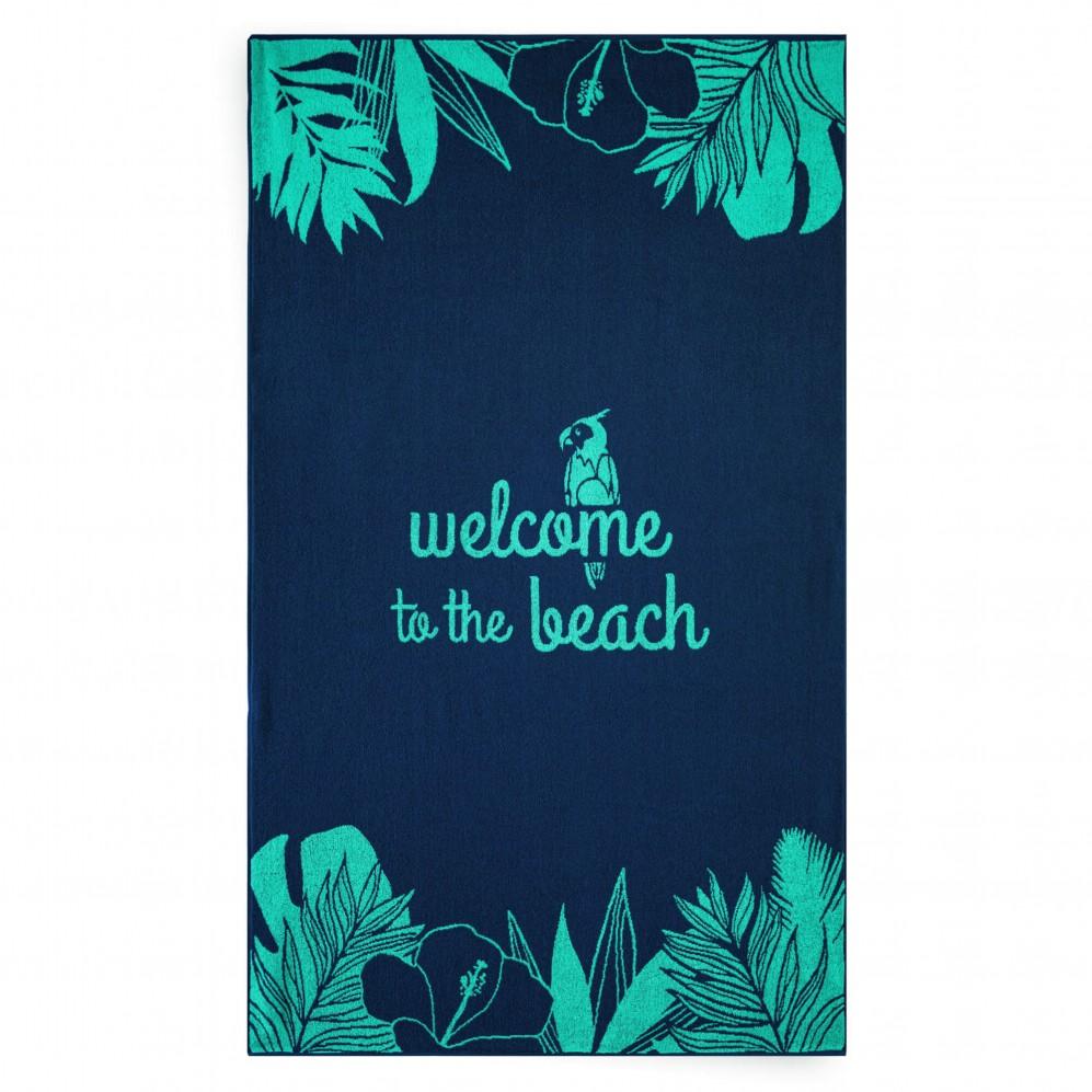 Ręcznik plażowy WELCOME niebieski