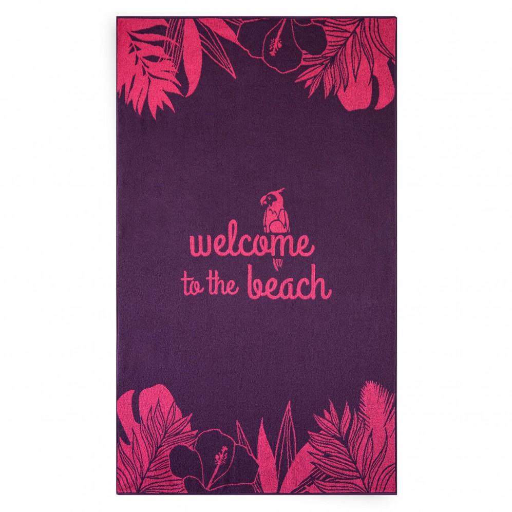 Ręcznik plażowy WELCOME różowy