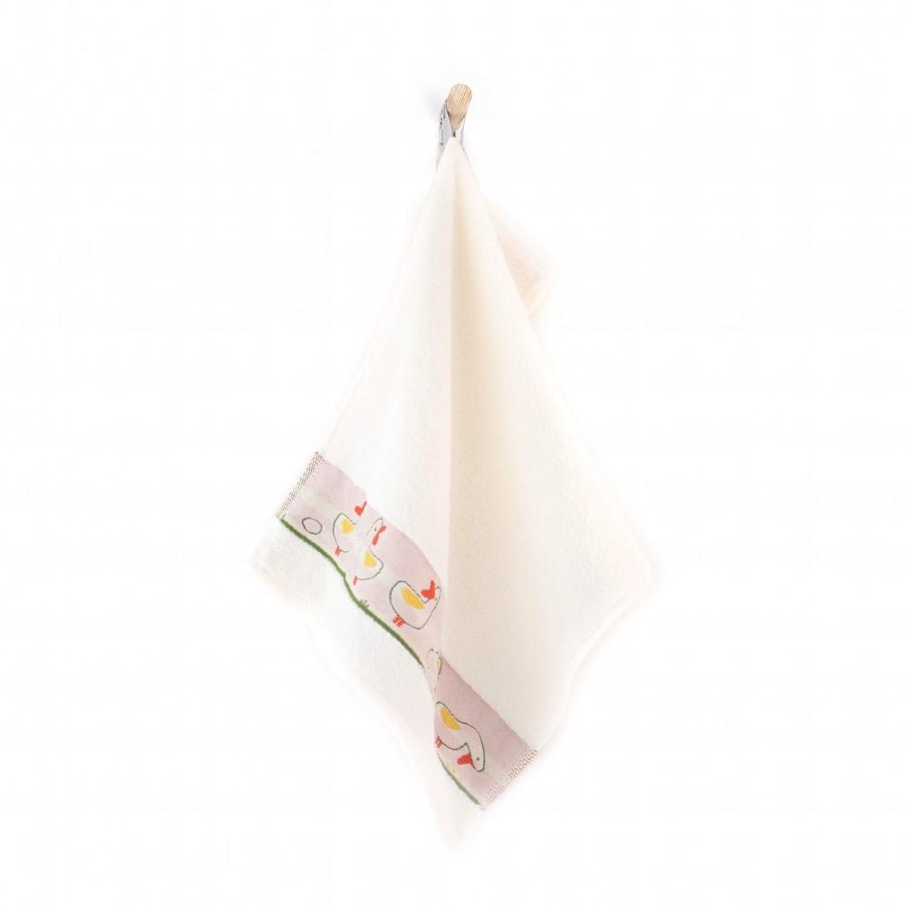 Ręcznik dla dzieci KACZKI kremowy