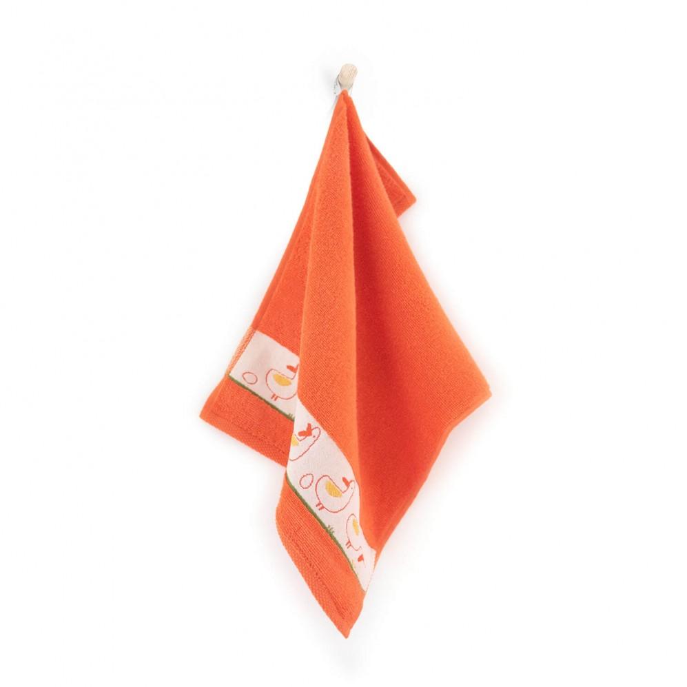 Ręcznik dla dzieci KACZKI mandarynka