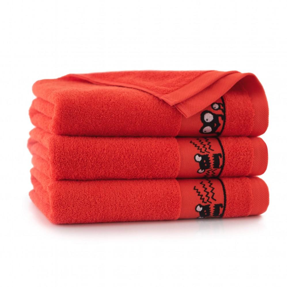 Ręcznik dla dzieci OCZAKI truskawkowy