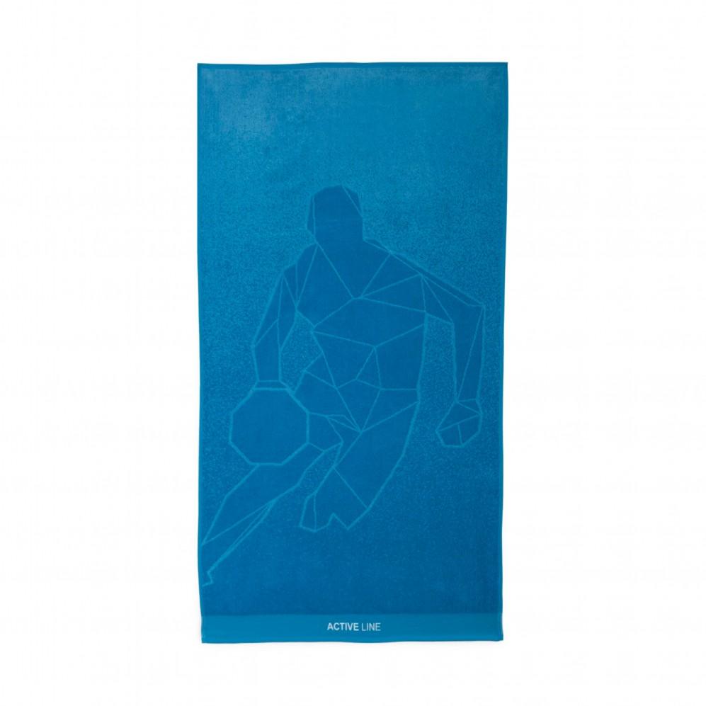Ręcznik sportowy Active 2 Niebieski - Ręcznik na siłownię niebieski