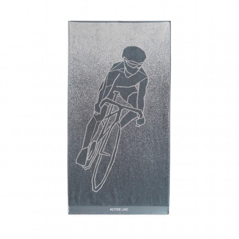 Ręcznik sportowy Active 4 Grafitowy - Ręcznik na siłownię grafitowy