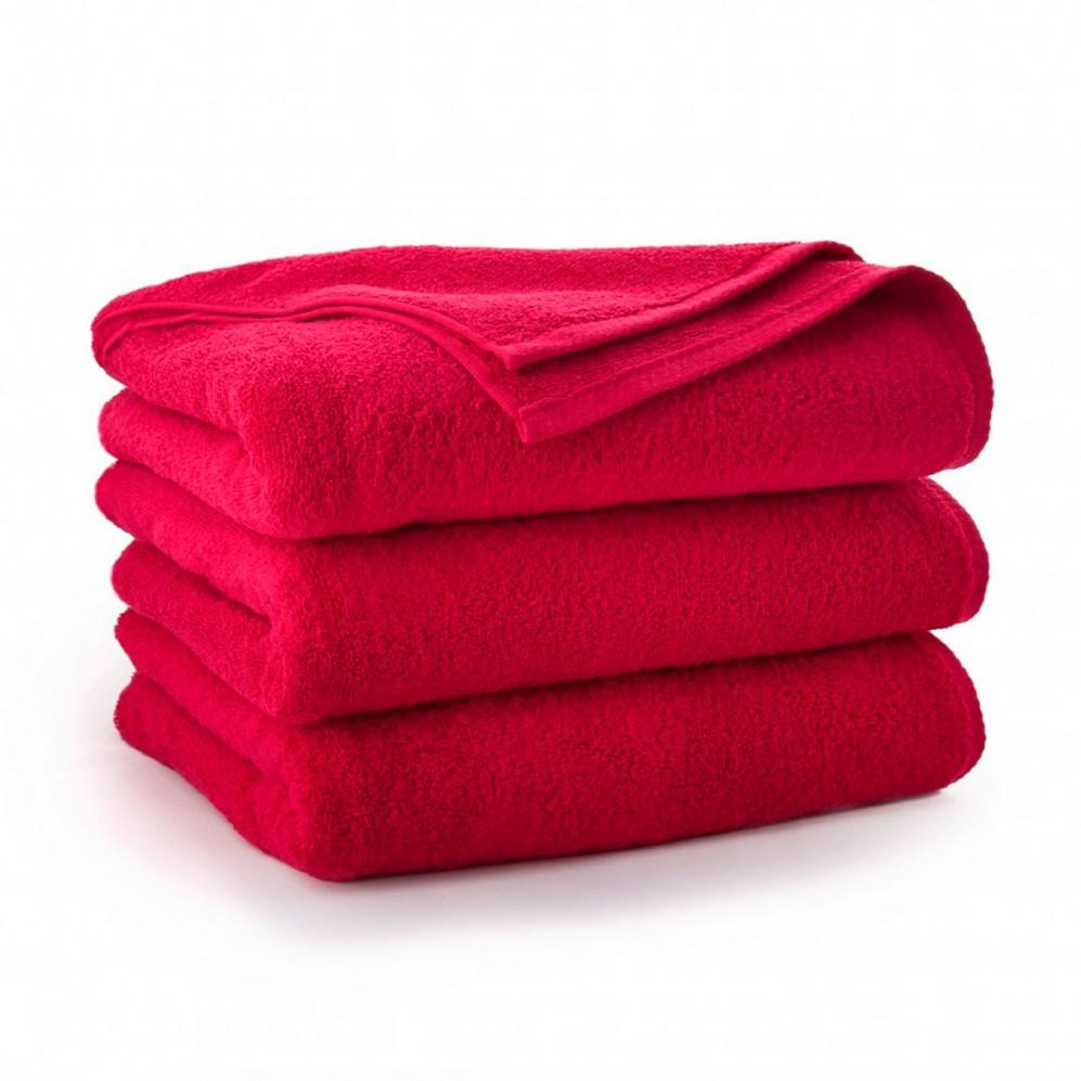 Ręcznik bawełniany czerwony Kiwi Czerwony