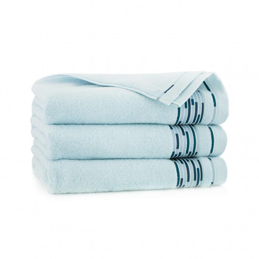 Ręcznik bawełniany niebieski Grafik Świetlik