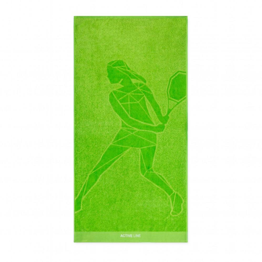 Ręcznik sportowy zielony Active 1 AG - Ręcznik na siłownię zielony