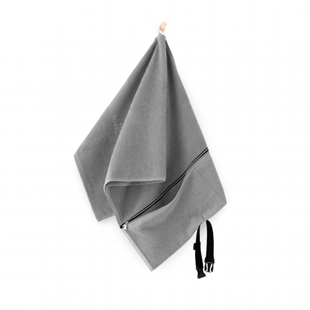 Ręcznik na siłownię szary Fit Towel Jasny Grafit - Szary ręcznik sportowy