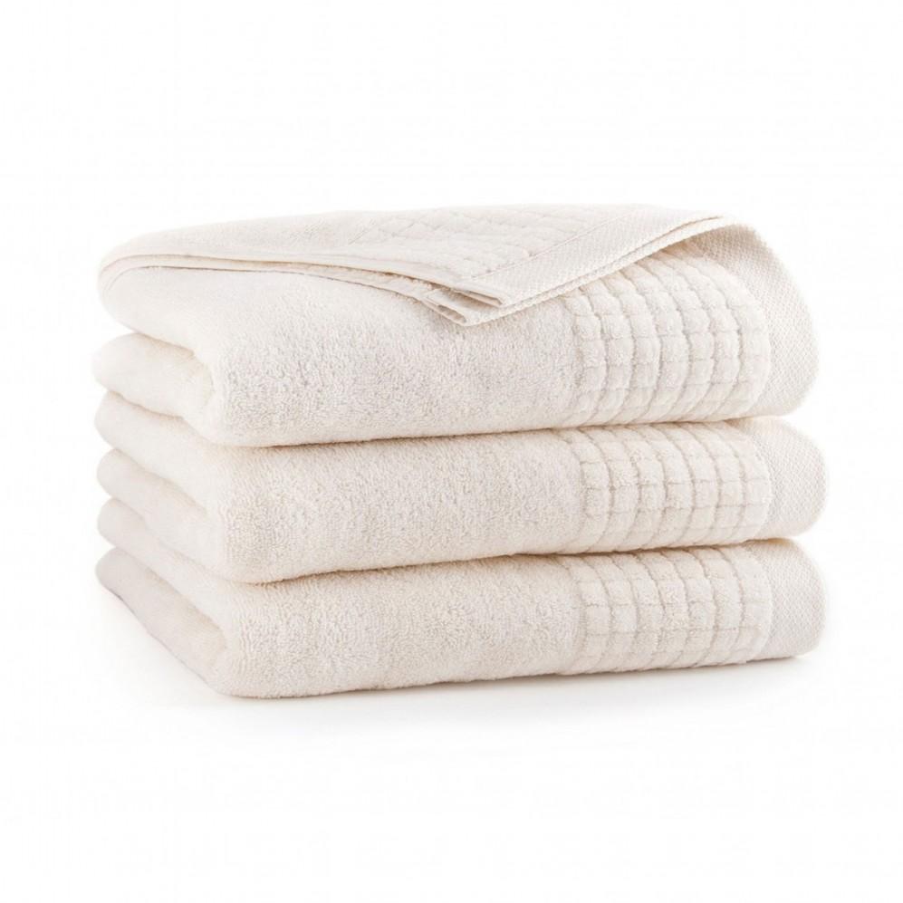 Ręcznik welurowy beżowy Paulo 2 Ecru