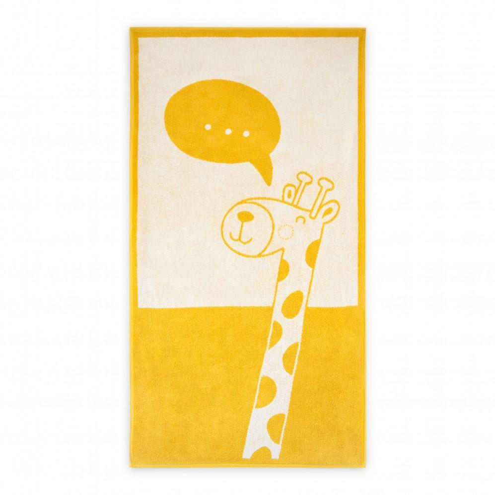 Ręcznik dla dzieci żyrafa żółty